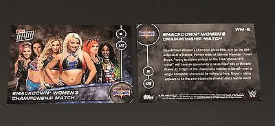 Alexa Bliss Becky Lynch Naomi Carmella WWE Topps Now 2017 Wrestlemania 33 Card
