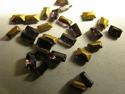 50 x AMETHYSTE RECTANGLE (5x1,5) Vintage Swarovski strass (similisé)