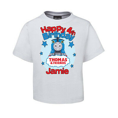 new thomas the train and friends custom birthday t shirt DTG