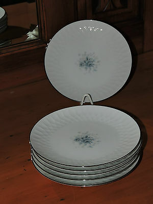 "6 Dinner Side Plates in  NORITAKE "" HYANNIS ""  # 6535  JAPAN"