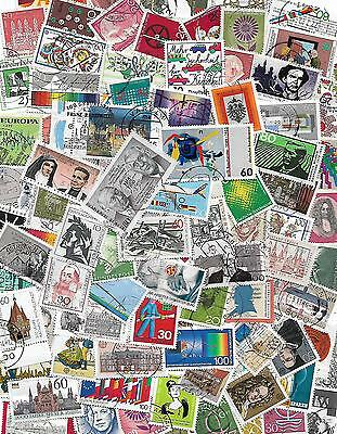 Germany Collection lot of 200 different used stamps, commemorative briefmarken