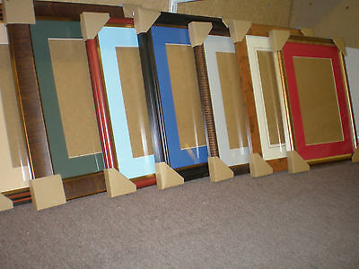 "50 picture frames with glass back and mount 16"" x 12"" Hainault Essex job lot"