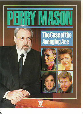 Perry Mason Press Kit Raymond Burr Barbara Hale William Katt Patty Duke Booklet