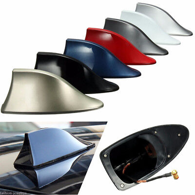 General Auto Car Exterior Shark Fin Roof Antenna FM/AM Decor Aerial Anti-static