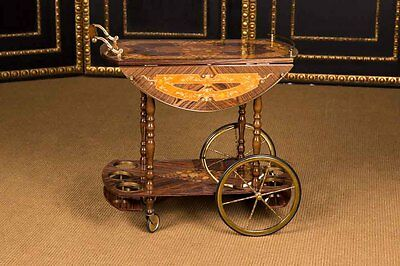 High Quality Italian Serving Cart Im Baroque Style Inlaid
