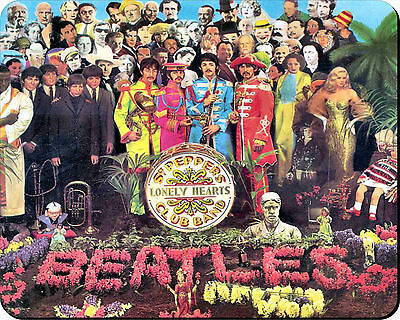 THE BEATLES SGT PEPPER COVER MOUSEMAT MOUSE MAT PAD compatible with Mac & PC