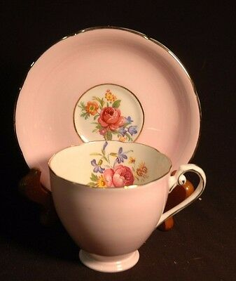 Royal Grafton Pink Floral Cup and Saucer