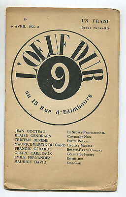 Revue L'oeuf Dur N°9 Avril 1922