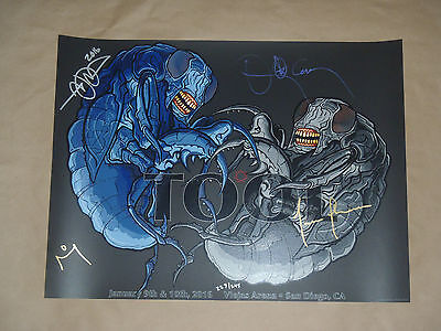 Tool poster 2016 tour signed by all four members & numbered Maynard James Keenan