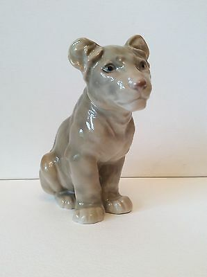 Vintage Bing And Grondahl Lion Cub  No.1923, Circa Middle 20Th C.excellent