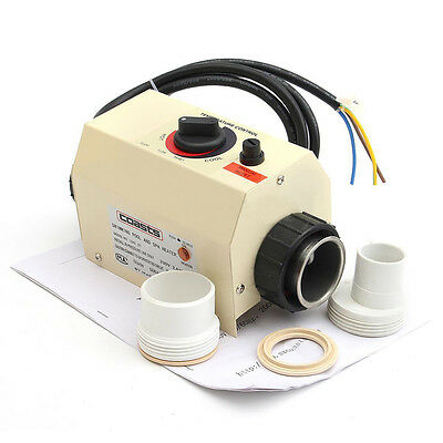 TOP 2KW 220V Swimming Pool & Bath SPA Hot Tub Electric Water Heater Thermostat