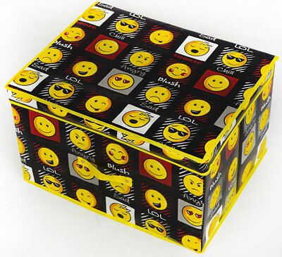 Emoji, Expressions Storage Box - Black