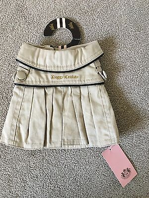 Juicy Couture Doggy Couture Small Dog Khaki T-Shirt Dress BNWT