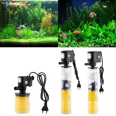 3en 1 1000-3500L/H Aquarium Réservoir de Poisson Filtre Submersible Oxygen Pompe