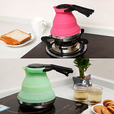 Collapsible Kettle Folding Pop-Up Gas Stove Hot Water Pot Fishing Camping Hi-Q