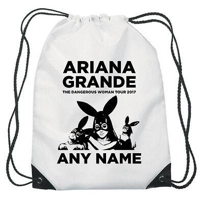 Personalised Ariana Grande 2017 Tour Printed Kids Budget Gym Bag Bargain Price