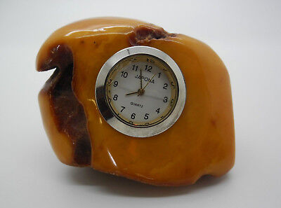 Natural Baltic antique amber stone - clock
