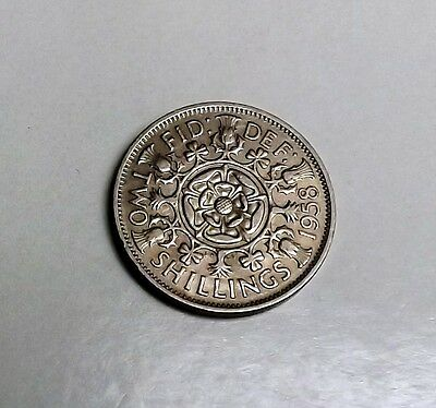 1958 Two-Shilling[Key Date] Very Nice Condition Very Nice Rare Coin