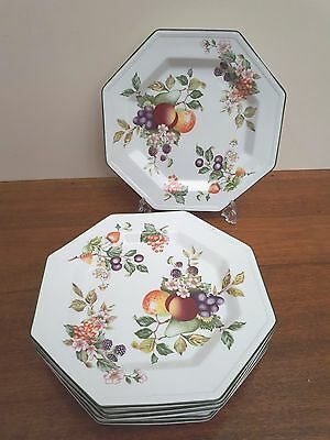"Johnson Brothers x6 10"" Dinner Plates - Fresh Fruit Pattern - VGC"