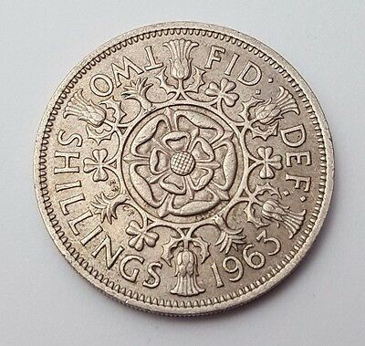 Dated : 1963 - Queen Elizabeth II - One Florin / Two Shillings Coin