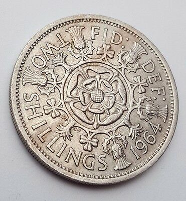 Dated : 1964 - Queen Elizabeth II - One Florin / Two Shillings Coin