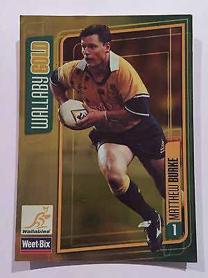 Wallaby Gold Weet-Bix Wallabies Collectible Card Matthew Burke