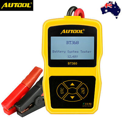 AUTOOL BT-360 12V Car Battery Tester Analyser Cranking Charging Test CCA100-1400