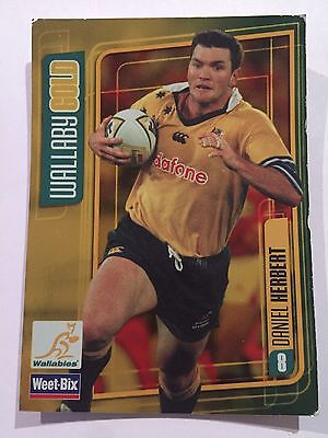 Wallaby Gold Weet-Bix Wallabies Collectible Card Daniel Herbert