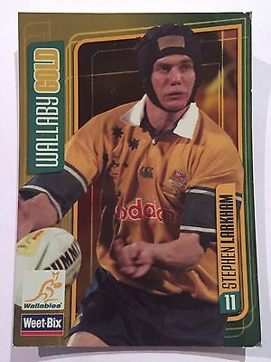 Wallaby Gold Weet-Bix Wallabies Collectible Card Stephen Larkham