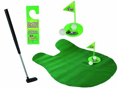 PUTT & FLUSH - NOVELTY TOILET GOLF, GREAT 4 BACHELOR PAD, Boys Christmas Gift