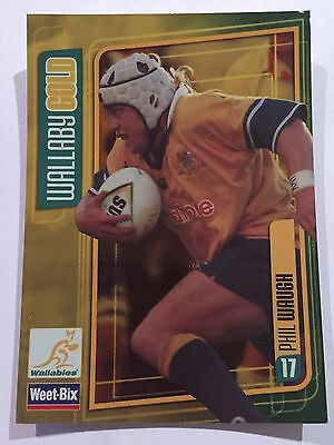 Wallaby Gold Weet-Bix Wallabies Collectible Card Phil Waugh