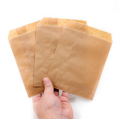 Lot 5X7 Inch Kraft Paper Candy Bar Bags Party Birthday Gift Popcorn Favour A1916