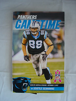 Gametime - Carolina Panthers - Seattle Seahawks - Oct 7th 2012 - Ticket