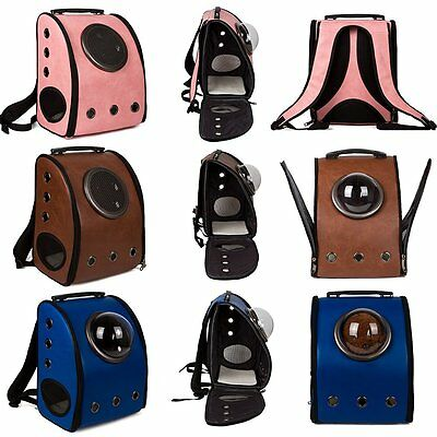 Portable Pet Animal Small Dog Cat Carrier Dog Carry Bags Backpack Travel Leather