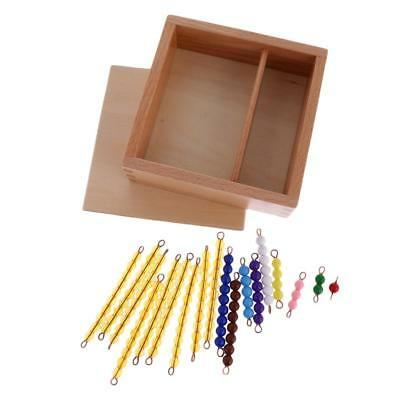 Montessori Material Counting Game Toy 1-10 Beads Bar Children Christmas Gift