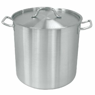 Vogue Deep Stockpot Made of Stainless Steel - Induction Compatible 400mm