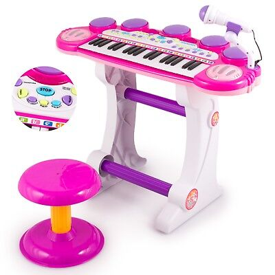 Keyboard Kinderpiano Kinder piano mit Hocker Musikinstrument Spielzeug KP5728pin