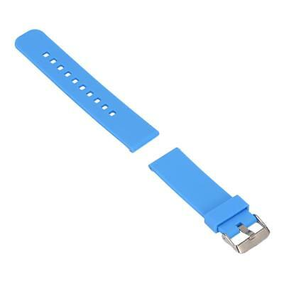 Replacement Silicone Soft Band Strap For Garmin Fenix Chronos GPS Watch Blue