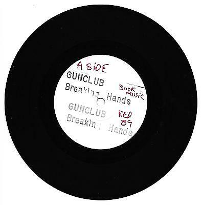 """Gunclub - Breaking Hands 7"""" one sided white label promo Red Rhino RED 89"""