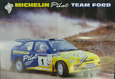 Michelin Promotional Poster  Ford Escort Cosworth Michelin Pilot - M.Wilson