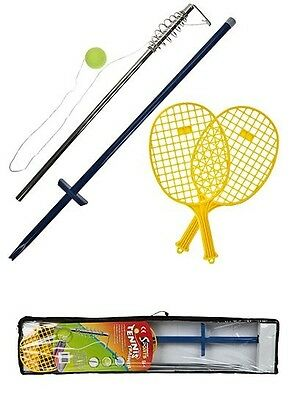 Swing Tennis Steel Outdoor Family Game Garden,Beach, Camping Trainer With Case