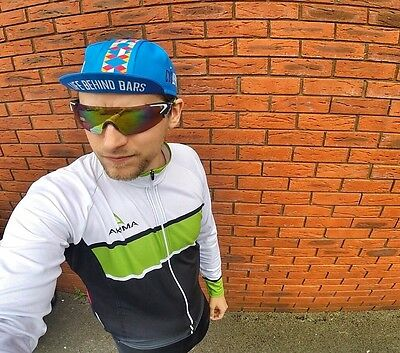 Life Behind Bars Cycling Cap by @Cyclepreneur in Blue NEW