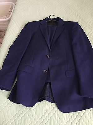 Mens Simon Carter  2 Piece Suit 38 Chest 32 Waist Dark Navy Blue