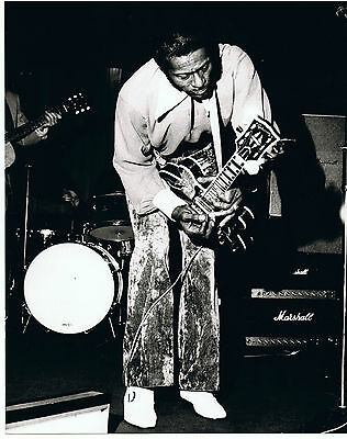 "Chuck Berry UK Original  Press Photo  10"" x  8"" Stamped"