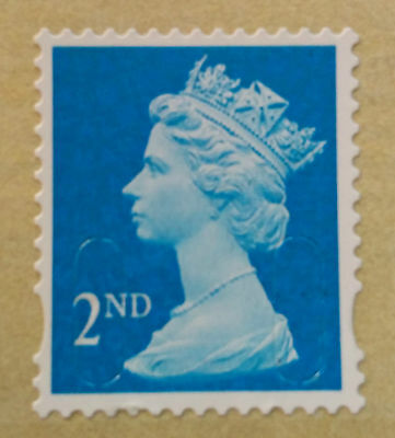 100 x 2ND SECOND CLASS SELF ADHESIVE POSTAGE STAMPS, EASY PEEL AND STICK.