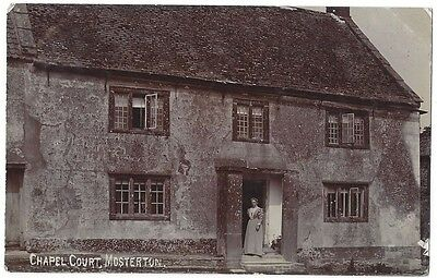 MOSTERTON Chapel Court, Dorset, RP Postcard by FG Christopher, Unused