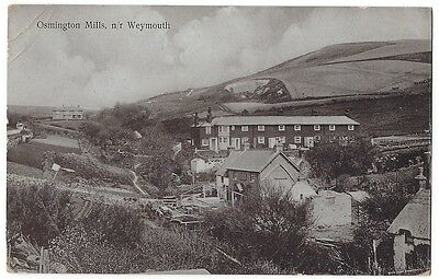OSMINGTON MILLS Near Weymouth, Old Postcard by Hitch, Postally Used 1918
