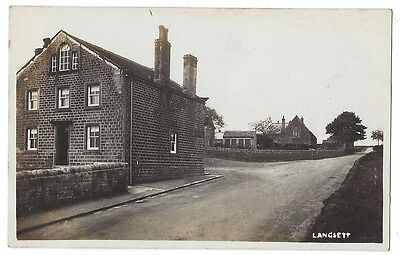 LANGSETT View in the Village, Yorkshire, RP Postcard by Biltcliffe of Penistone