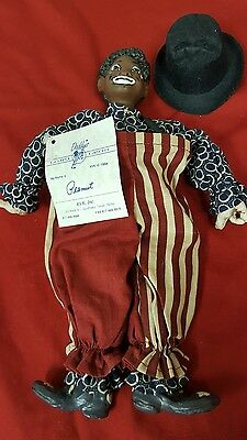 "Daddy's Long Legs Resin Cloth Peanut Character Clown Boy Doll 11"" Tall"