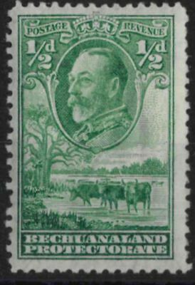 t015) Bechuanaland Protectorate. 1932. MM.  SG 99 1/2d Green. Royalty